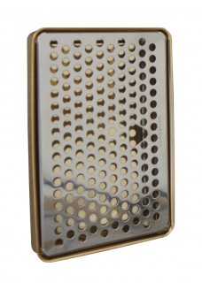 Каплесборник Vin Service (Италия), 15 х 22 см, хром/золото