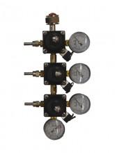 Редуктор СО2 c тремя  регулируемыми выходами, 1+3, 5 бар, TOF (Италия)