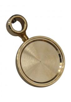 Медальон круглый c кольцом TOF (Италия), хром / золото