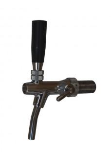 Кран с компенсатором TOF (Италия), стальной носик, хром, длина резьбы 55 мм